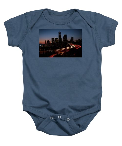 Seattle At Dusk Baby Onesie