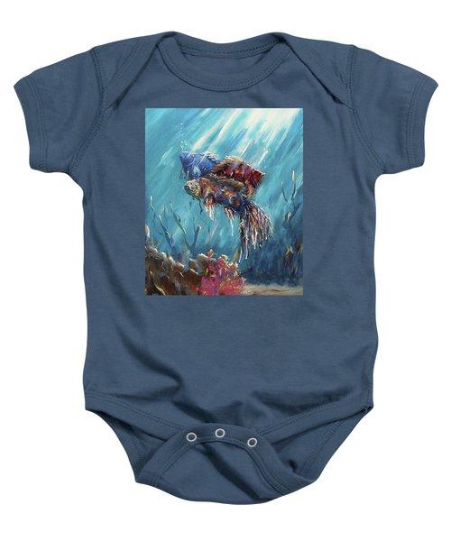Shine Trough The Ocean Baby Onesie