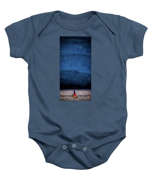 Baby Onesie featuring the photograph Solitude On Priest Lake by David Patterson