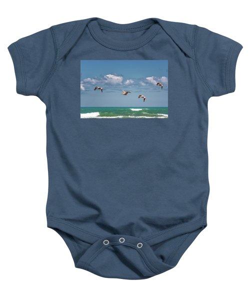 South Padre Island Pelicans Baby Onesie