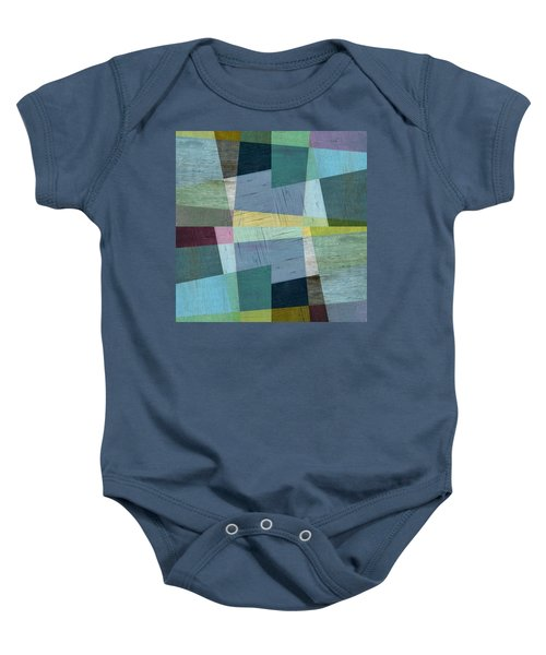 Baby Onesie featuring the digital art Squares And Shims by Michelle Calkins