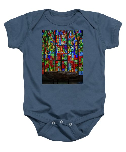 Stained Glass And Stone Altar Baby Onesie