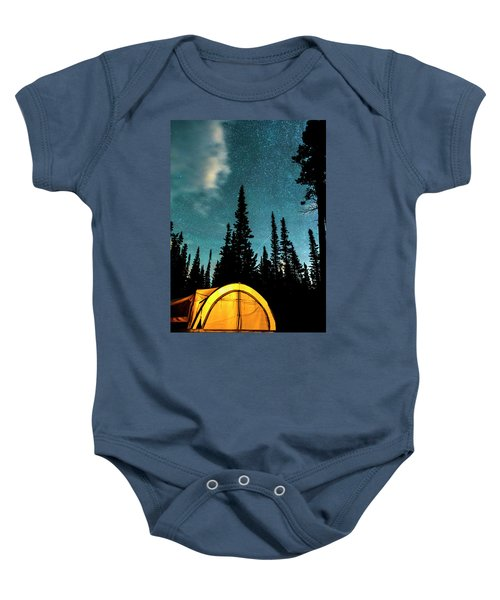 Baby Onesie featuring the photograph Star Camping by James BO Insogna