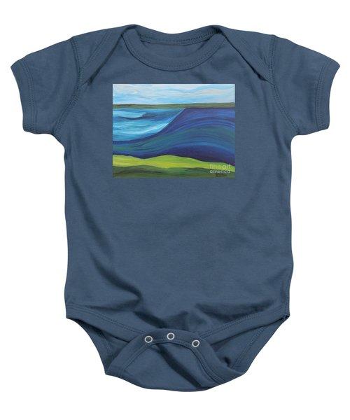 Stormy Lake Baby Onesie