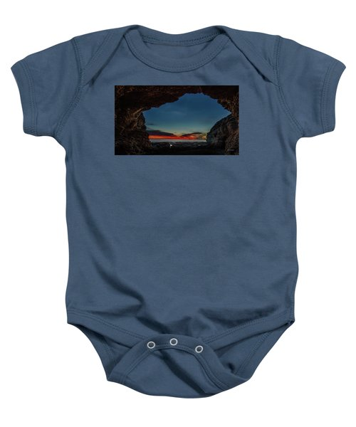Sunset From Brady's Cave Baby Onesie