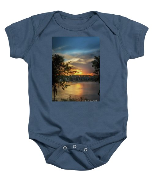Sunset On The Arkansas Baby Onesie