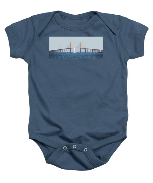 Sunshine Skyway Bridge #2 Baby Onesie