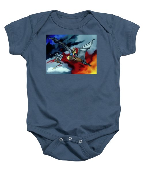 The Bat Riders Baby Onesie