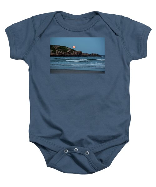 The Strawberry Moon Rising Over Good Harbor Beach Gloucester Ma Island Baby Onesie