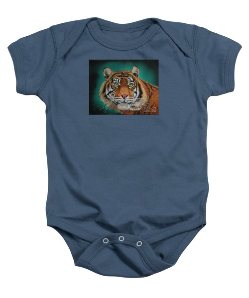 Tiger Portrait......amur Tiger Baby Onesie