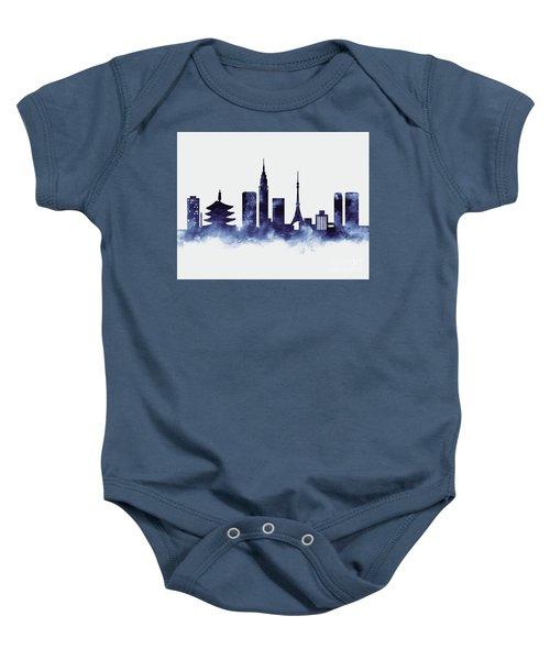 Tokyo Skyline Baby Onesie