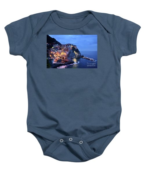 Tuscany Like Amalfi Cinque Terre Evening Lights Baby Onesie