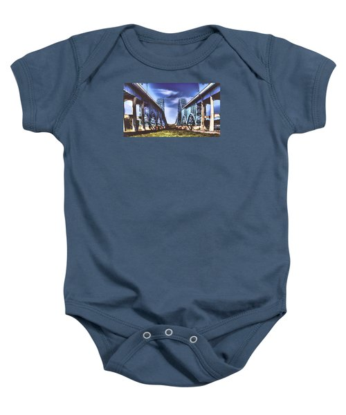 Twin Spanned Arched Baby Onesie