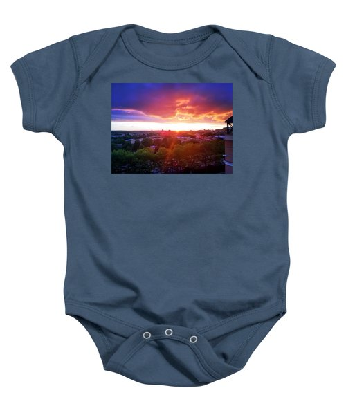 Urban Sunset Baby Onesie