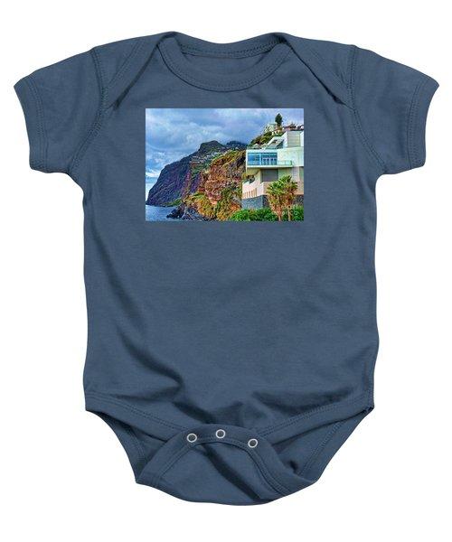 Viewpoint Over Camara De Lobos Madeira Portugal Baby Onesie