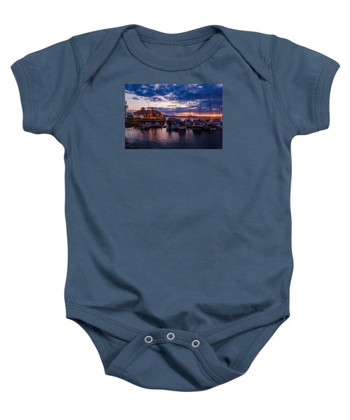 Waterfront Summer Sunset Baby Onesie