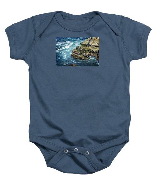 Waves Of Blue Baby Onesie