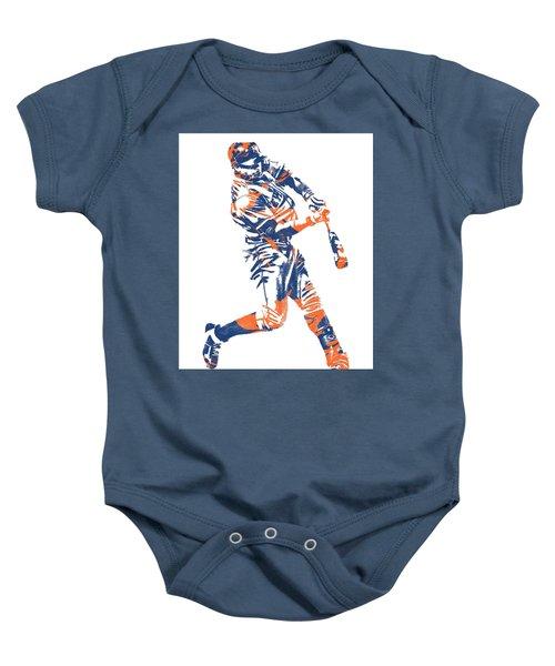 Yoenis Cespedes New York Mets Pixel Art 1 Baby Onesie