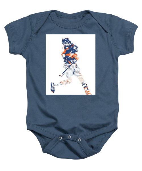 Yoenis Cespedes New York Mets Pixel Art 2 Baby Onesie