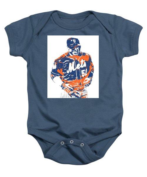 Yoenis Cespedes New York Mets Pixel Art 3 Baby Onesie