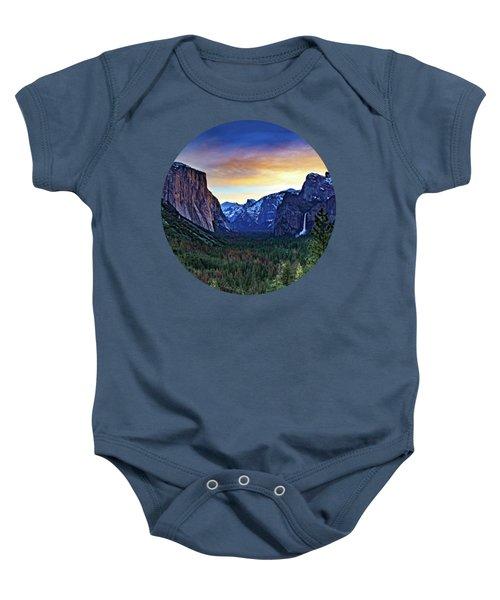 Yosemite Sunrise Baby Onesie by Adam Morsa
