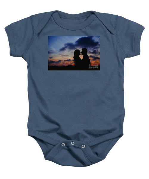 Couple With Cloud Sky Backlight Baby Onesie