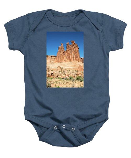 Balanced Rocks In Arches Baby Onesie
