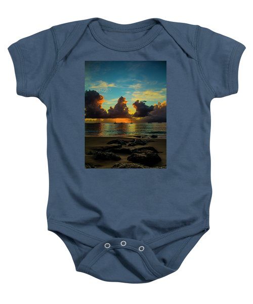 Beach At Sunset 2 Baby Onesie