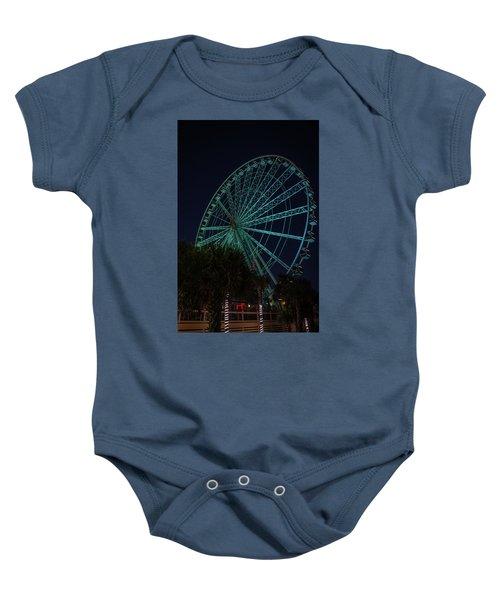 Blue Wheel Baby Onesie