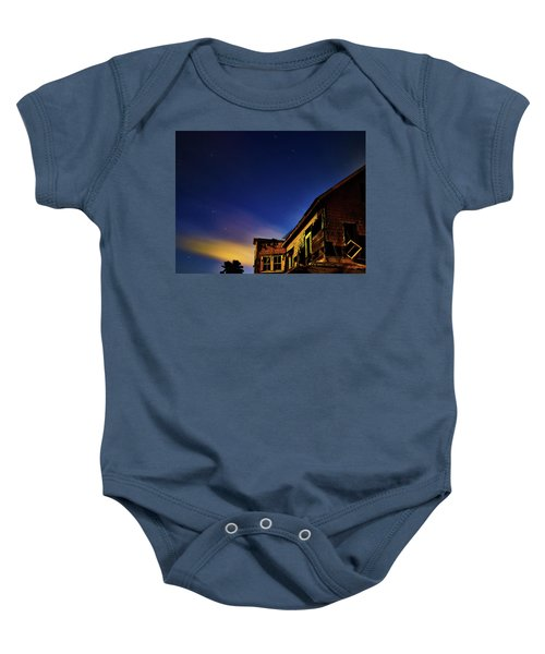 Decaying House In The Moonlight Baby Onesie