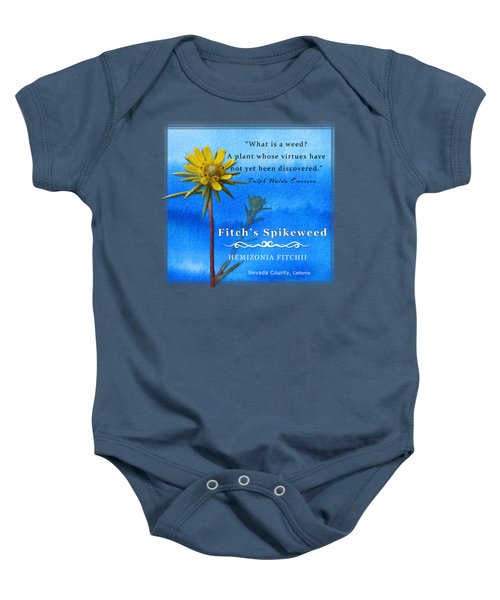Fitch's Spikeweed Baby Onesie