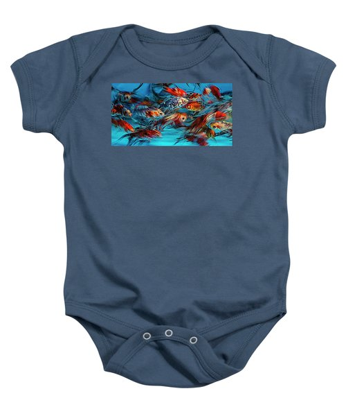 Gold Fish Abstract Baby Onesie
