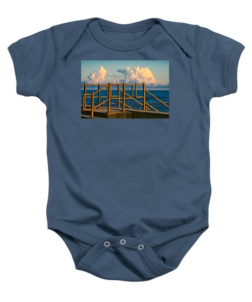 Golden Railings Baby Onesie