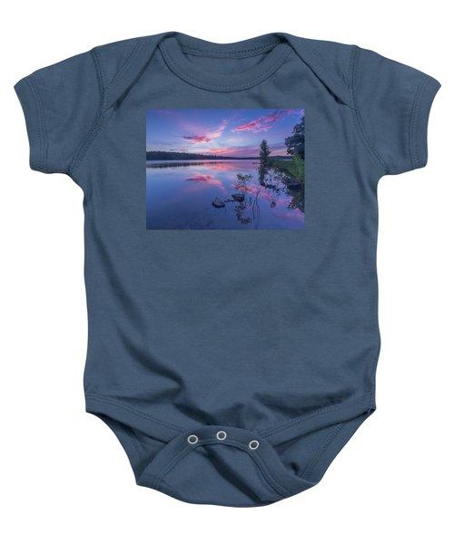Horn Pond Sunset Baby Onesie