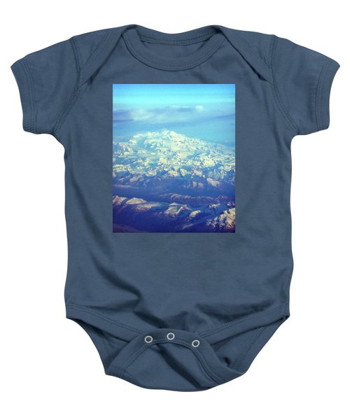 Ice Covered Mountain Top Baby Onesie