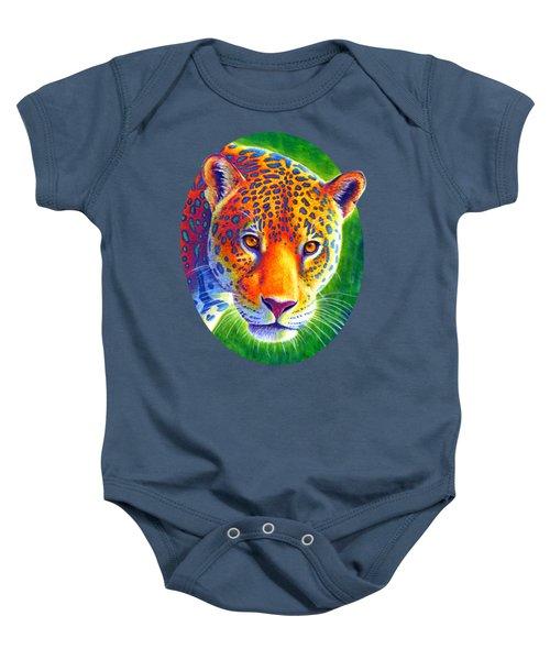 Light In The Rainforest - Jaguar Baby Onesie