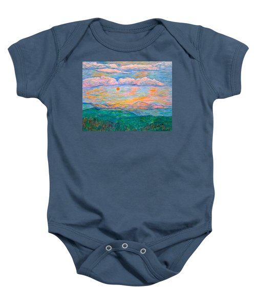 Baby Onesie featuring the pastel Morning Color Dance by Kendall Kessler