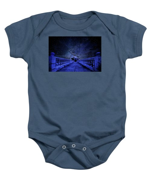 Night Sky Over The Temple Baby Onesie