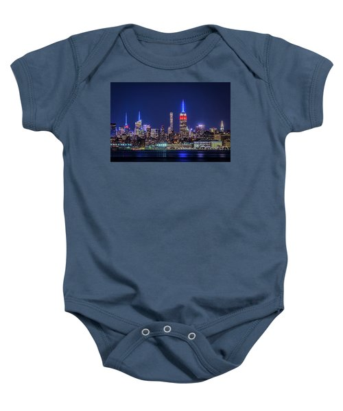 Nyc At The Blue Hour Baby Onesie