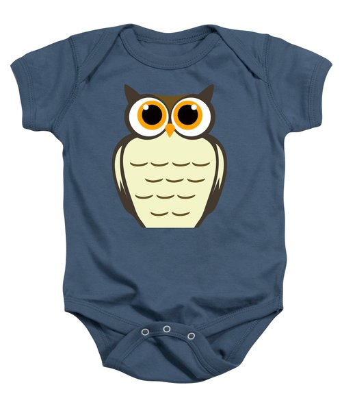 Owl Illustration Baby Onesie