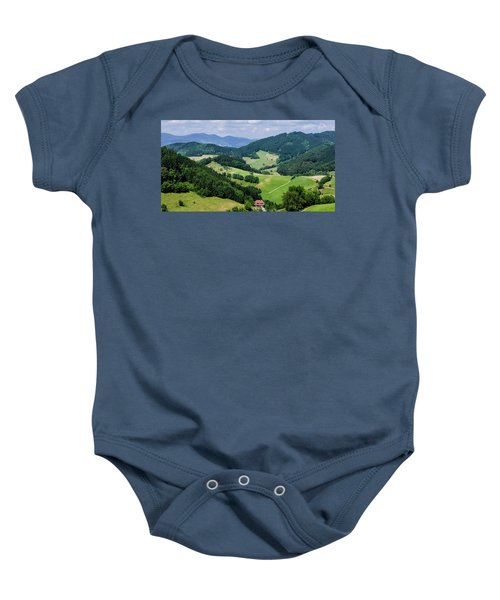 Rolling Hills Of The Black Forest Baby Onesie