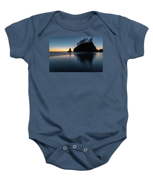 Sea Stack Silhouette Baby Onesie