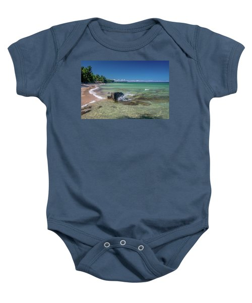 Secluded Beach Baby Onesie