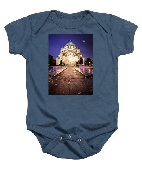 St. Sava Temple In Belgrade Nightscape Baby Onesie
