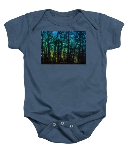 Stained Glass Dawn Baby Onesie