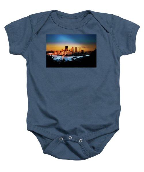 Sunset In The City Baby Onesie