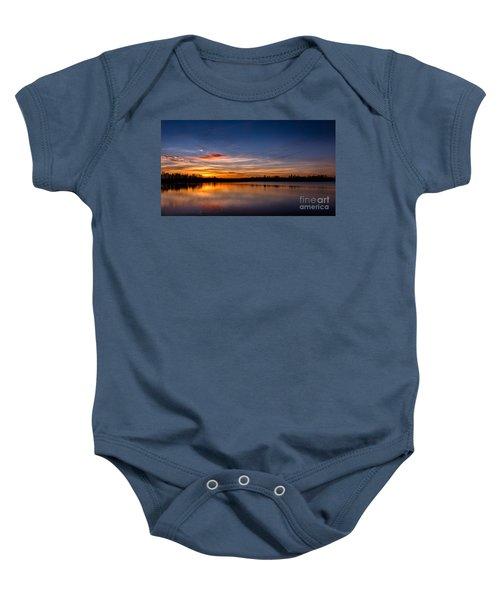 Sunset Over Laupheim Quarry Baby Onesie