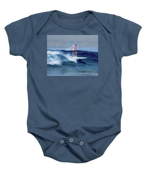 Surfing Andy Baby Onesie