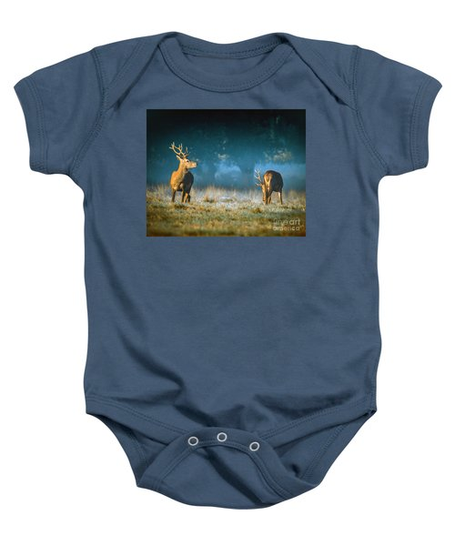 Two Stags Baby Onesie