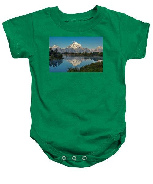 Reflections Of Mount Moran Baby Onesie